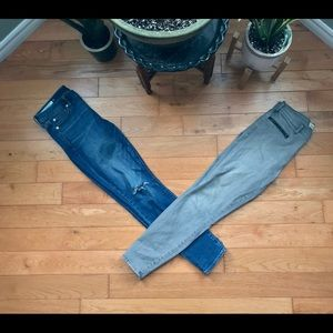 Two pairs-mid-rise Gap true skinny ankle jeans